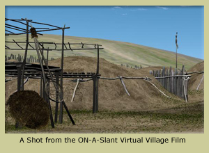 A Shot from the ON-A-Slant Virtual Village Film