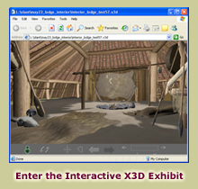 Enter the Interactive X3D On-A-Slant Virtual Village Exhibit
